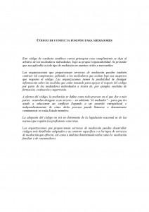 Portada Código de conducta europero para mediadores