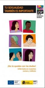 Portada Tríptico tu sexualidad tambien es importante castellano 2015