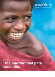 Portada estado mundial de infancia 2016