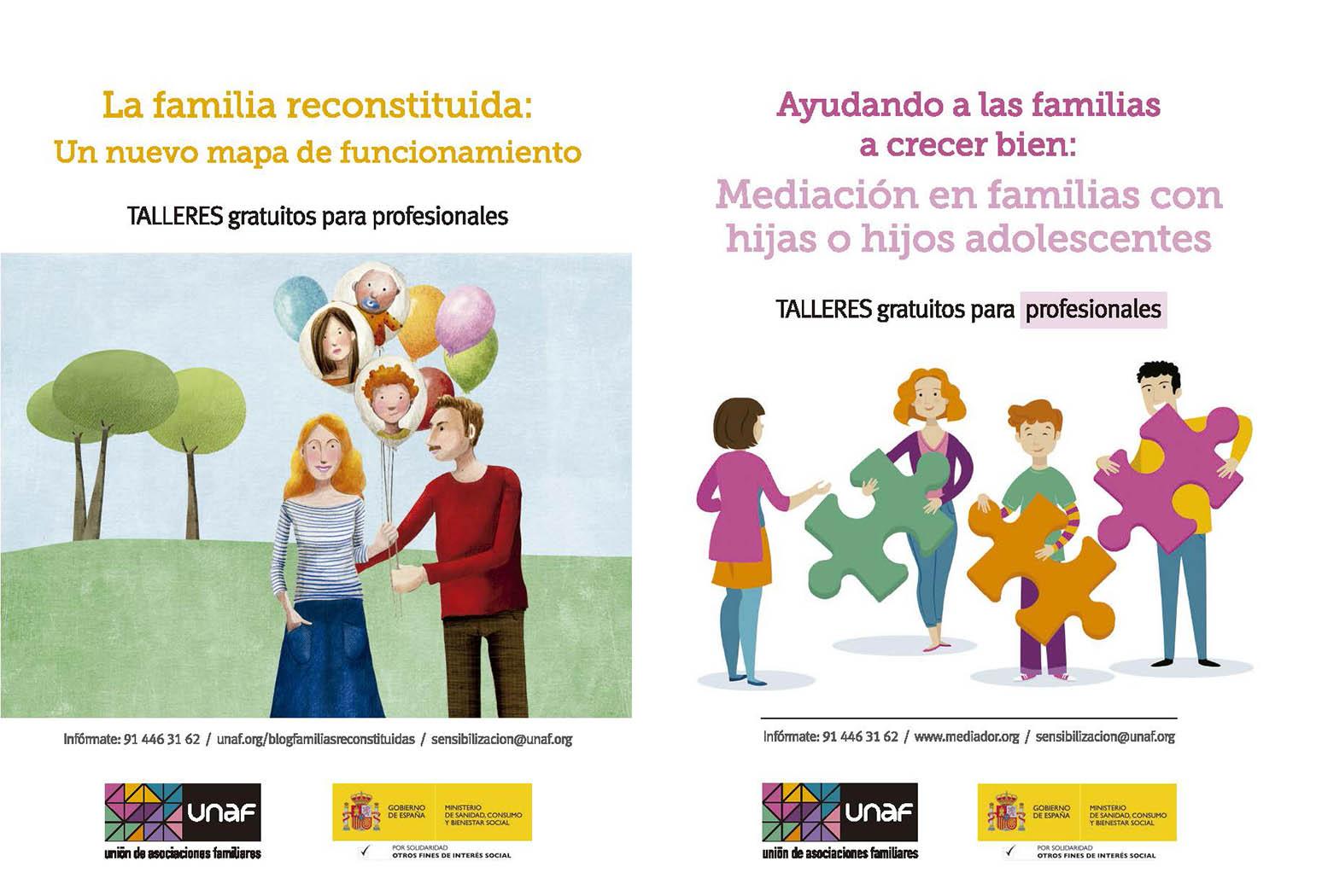 Talleres de mediación intergeneracional y familias reconstituidas ahora también online