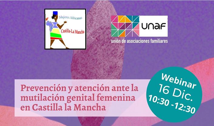 Webinar Prevención y atención ante la mutilación genital femenina en Castilla-La Mancha