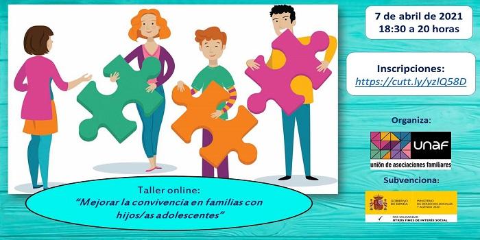Taller online: Mejorar la convivencia en familias con hijas e hijos adolescentes