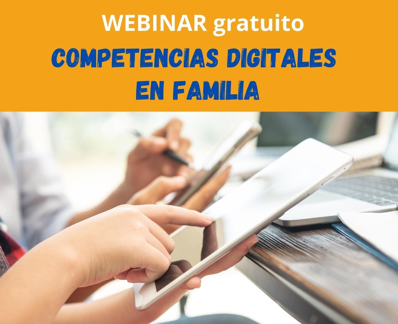 Webinar Competencias digitales en familia