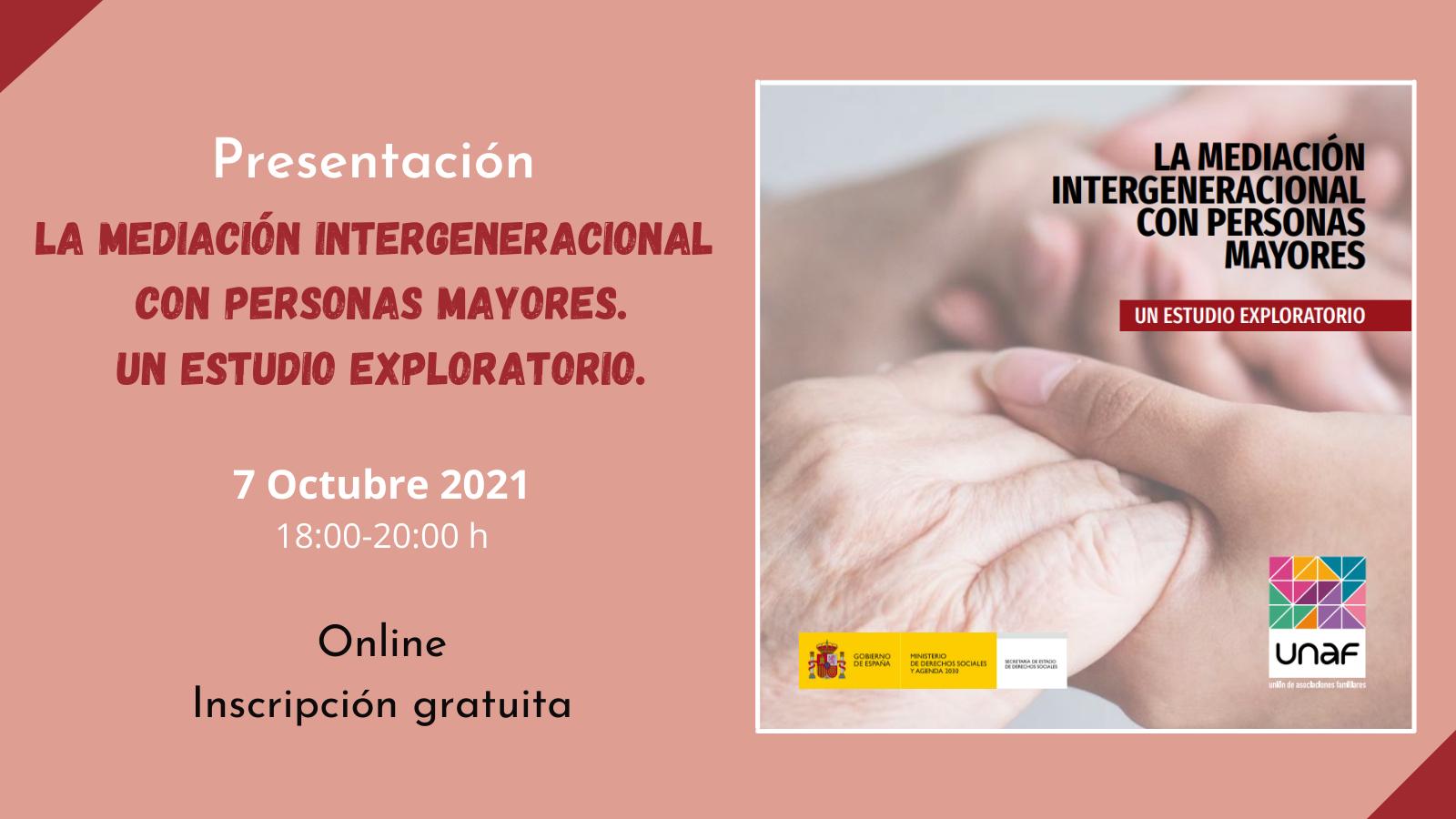 Presentación del estudio Mediación intergeneracional con personas mayores